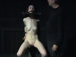 TT sub getting toyed by dildo machine