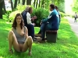 Wild Girl Flashing Her Tits And Pussy