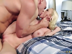 Johnny Sins makes Madison Scott gag on his beefy love wand
