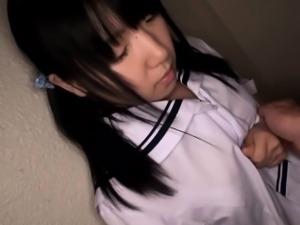 Petite japanese teen in panties fingered