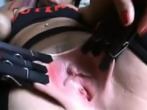 Latin Pussy Being Abused Very Close Up
