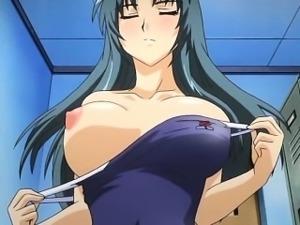 Precious hentai chick gets small snack fucked