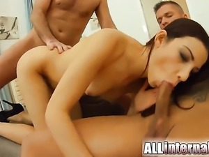 Extremely hot minx is horny as hell and fucks with wild passion in this anal...