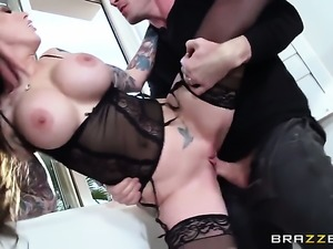 Johnny Sins gets pleasure from fucking Darling Danika with huge hooters in...
