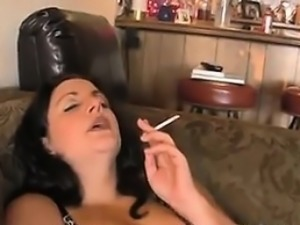 BBW Smokes And Fingers Her Thick Pussy