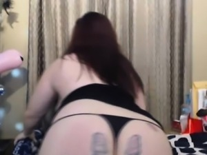 bbw in sexy corset fucks pussy