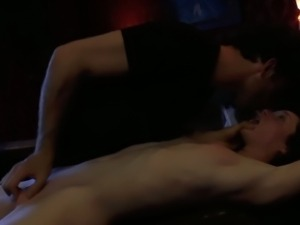Submissive girl gets face-fucked