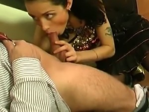 Emmie doggystyle fucking with her old man