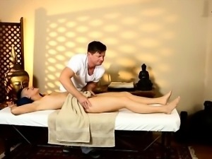Kinky babe Rachael Madori pounded by her horny masseur
