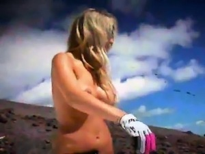 Badass girls deep sea fishing and enjoyed snowboarding naked