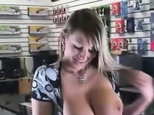 Broke Mother Flashes Her Breasts POV