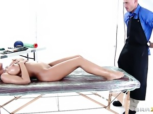 Johnny Sins whips out his meat pole to fuck irresistibly hot Capri Cavannis slit