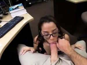 College student sells her books n fucked by pervert pawn man