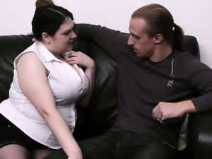 Husband caught cheating with curly fatty
