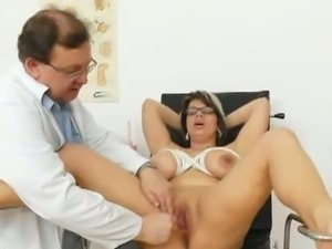 Huge natural melon size breasts at obgyn gynecologist