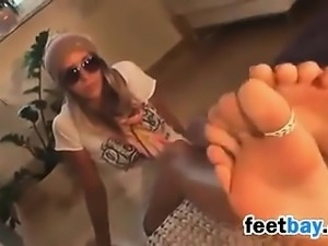 Hot Girl Showing Off Her Feet Compilation