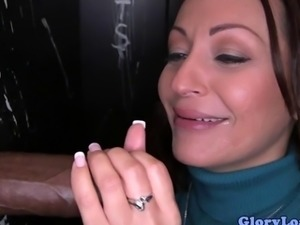 Glory hole bj milf just loves sucking