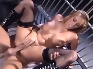 Blonde Cop Face Sitting And Fucking In Prison