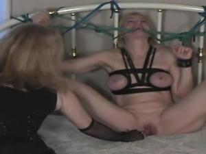 Hot girlfriend bondage gang bang