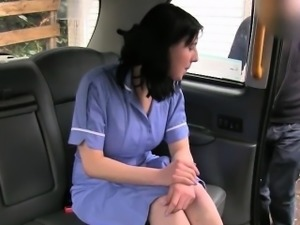Kinky amateur gets her pussy railed by horny fraud driver