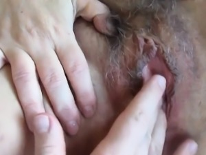 Fingering That Hairy And Loose Pussy