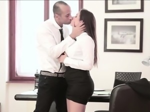 Hot Secretary fucked hard by his boss