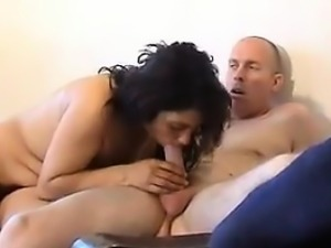 Russian Woman Strip And Gives A Blowjob