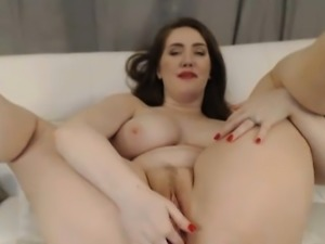 Dildo in her Ass While She Fingers her Cunt