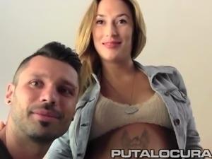 PUTA LOCURA Amatuer banging his Bulgarian pregnant GF