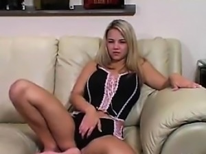 Young Blonde Girl In Lingerie Softcore