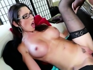 Dava Foxx in extensive interracial sex