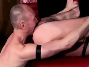 Fetish gay dudes rim ass