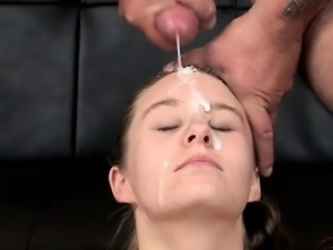 Sexy model extreme throat