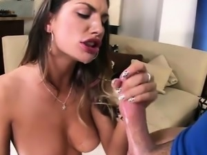 Bootylicious stunner August Ames lubes her ass then fucked