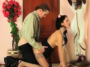 Dirty Russian Anal Fucking By The Door