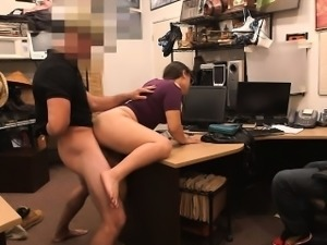 Couple girls try to steal and have sex at the pawnshop