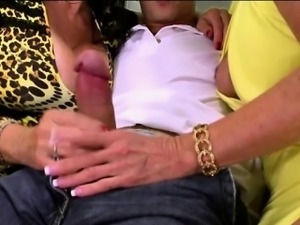 Two Bisex Grannies fucking young hunk