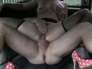 Hot kinky amateur passenger ass fucked to off her fare