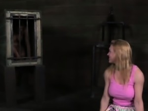Pathetic submissive spanked and caged