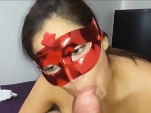 Sexy Latin Wife Sucking Cock And Fucking