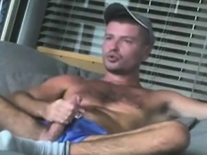 Hairy Military Hunk Masturbation