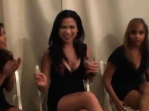 Asian Women Enjoying Sucking Dick At the Strip Club
