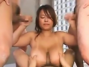 Busty Asian Pleasing Cocks In A Foursome