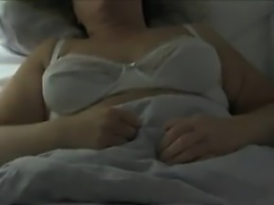 Playing With Her Mature And Saggy Tits