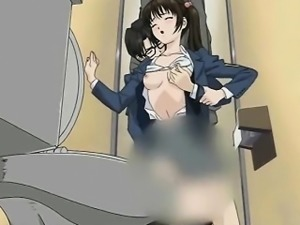 Saucy anime honey getting fingered
