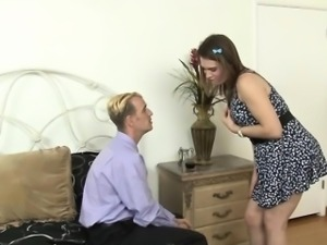 Pretty tranny Jade Downing ass fucking with naughty guy