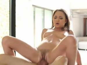 Brunette Amateur In Braids Getting Fucked On Massage Table