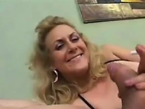 Kinky Granny Smokes And Sucks His Cock