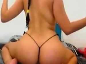 Bootylicious slut with thong teasing