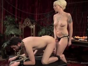 dominant blonde bitch punishes her partner